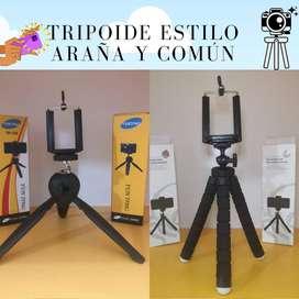 Tripoides para cámaras y telefonos