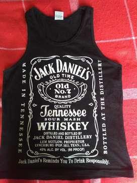 Camiseta Negra Jack Daniels Talla S