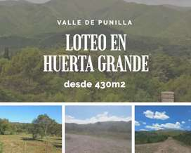 Lotes en Huerta Grande financiados en pesos