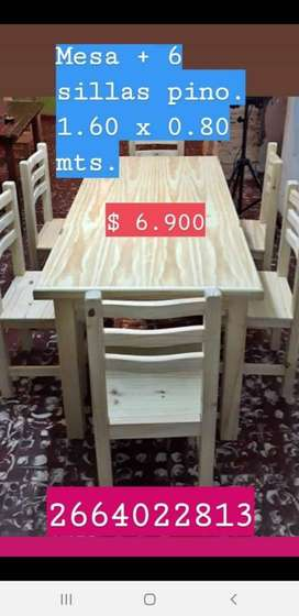 Mesas-sillas