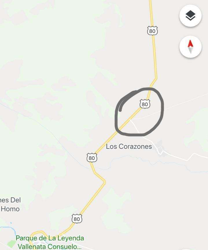 SE VENTE LOTE 1 HECTARE A ORILLA DE CARRETERA VIA VALLEDUPAR – SAN JUAN. CODIGO: VT0132 0
