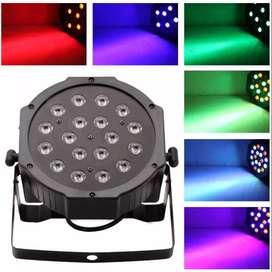 Protón Par 18 Led RGB Efectos Iluminación Luces Dj Boliche