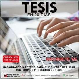 Tutorías de Tesis - Maestrías - Proyectos.