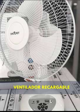 "Ventilador recargable Topsonic 12"""