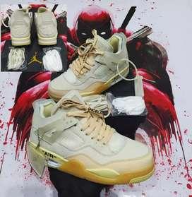 Tenis Nike Jordan Retro 4 off white Saúl dama y caballero