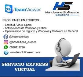 Servicio tecnico remoto (lentitud,activacion,virus)