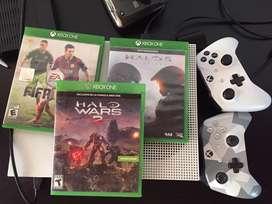 Xbox one s con 2 controles
