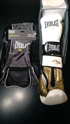Combo de Guantes de box y maleta para guantes Everlast