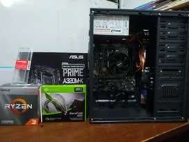 Pc Ryzen 3 3200g, 8gb de ram HyperX, SSD 250gb