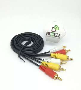 Cable Auxiliar Audio y Video Rca - Rca 3x3