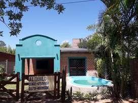 Alquilo casa en paso de la patria, con pileta a 200 mts de la playa