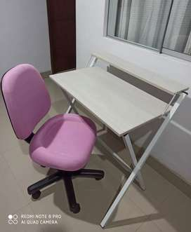 Escritorio plegable+ silla giratoria ejecutiva y secretarial   mecánica regulable