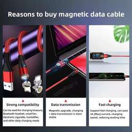 Cargador magnetico para celular android / iphone fast charged