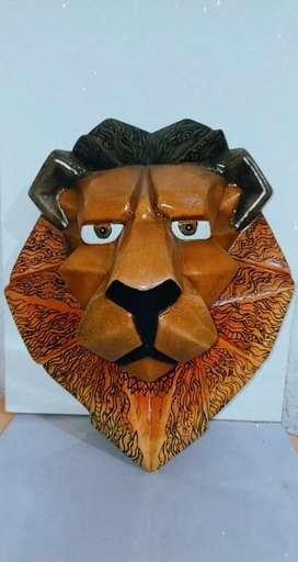 Cabeza de león en Cerámica