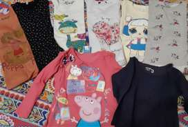Lote 8 camisetas talle 2 a 5 años