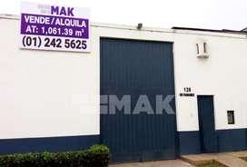 Venta de Local Industrial en Chorrillos de 1061 m2