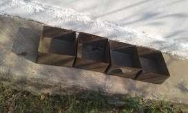 Cajones de chapa 25x25x12  vendo lote aproximado 17