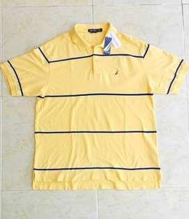 Camiseta Nautica Amarilla Original Nueva Talla L