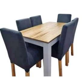 Juego de comedor mesa paraiso con 4 sillas