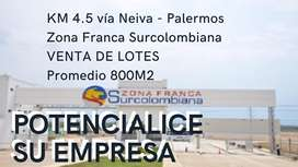 Lotes Zona Franca Surcolombiana