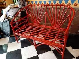 Salta - sillón mimbre/caña, pintado
