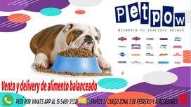 Venta y delivery de alimento balanceado para tu mascota