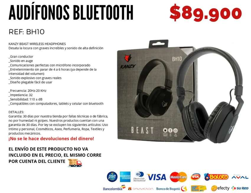 Audífonos Bluetooth. Envío gratis