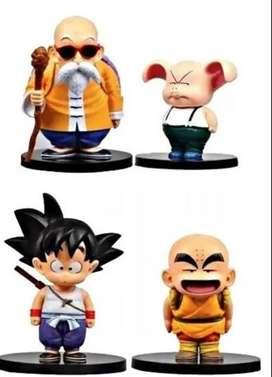 Figuras Muñecos Dragon Ball 15cm Goku Krilin Rochi Oolong