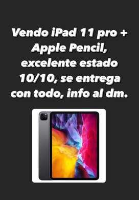 Se vende iPad 11 pro 256 gb + Apple Pencil