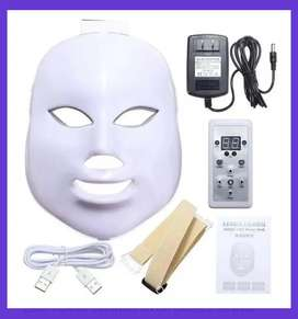 Máscara fototerapia facial led 7 colores