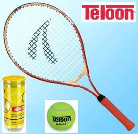 Raqueta Tenis Junior 25 '',c/funda + Tubo 3 Pelotitas, Combo