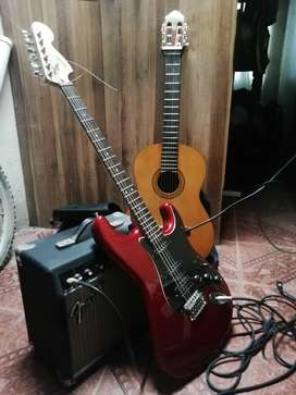 Guitarra electrica+amplificador+funda+cable
