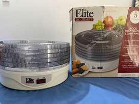 Deshidratador de alimentos Elite Gourmet en perfecto estado