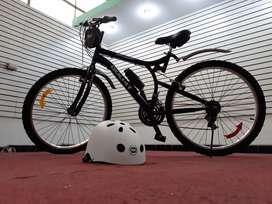 Bicicleta montañera negra