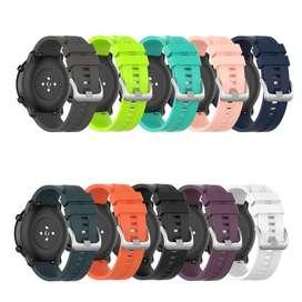 Manilla Silicona Repuesto  Para reloj Smartwatch Samsung Huawei Xiaomi Amazfit Pace Stratos