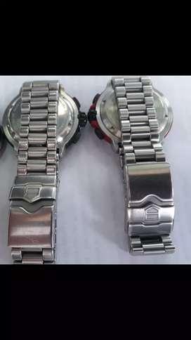 Remato 2 relojes auténticos TAG HEVER FORMULA 1 CRONOS SUIZOS