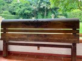 Hermosa cama rustica en Algarrobo de 2x2