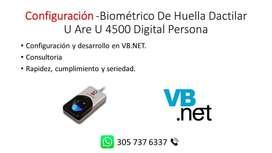 Configuración -Biométrico De Huella Dactilar U Are U 4500 Digital Persona