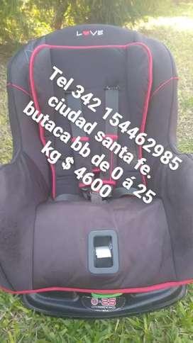 ciudad santa fe vendo butaca bb de 0 á 25 kg