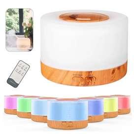 Difusor Aromas TV Grande 500 ML, Humificador Tipo Madera + Control Nuevo