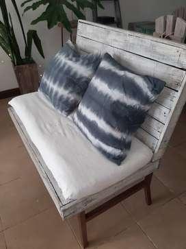 Liquido sillón 2 cuerpos madera
