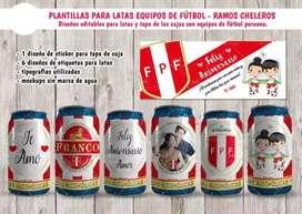 Plantillas editables RAMOS CHELEROS FÚTBOL PERUANO