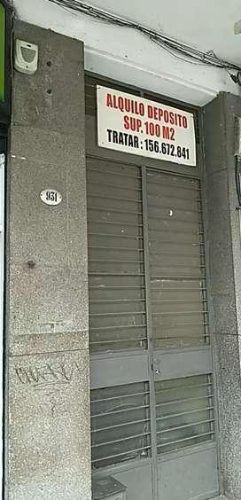 ALQUILO DEPÓSITO CENTRO 100 mts