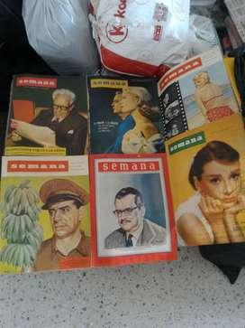 Revistas Semana Antiguas Unicas de Colec