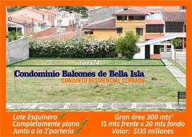 OPORTUNIDAD Lote Esquinero Condominio Balcones de Bella Isla Conjunto Cerrado