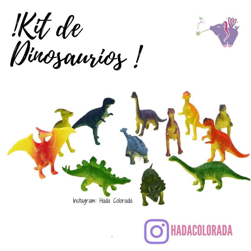 Dinosaurios por 8 unidades