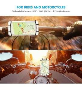 Soporte Celular Silicona Moto Bicicleta iPhone Resistente