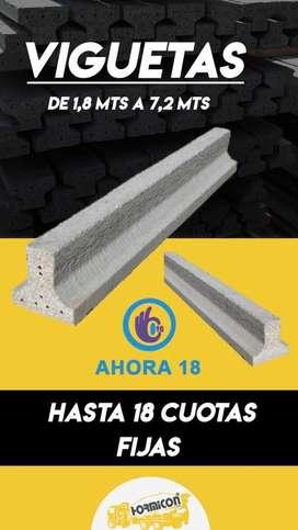 VIGUETA DE 1,8 a 7,2 metros