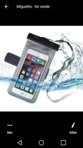 Funda para celular proteje de agua y fluidos
