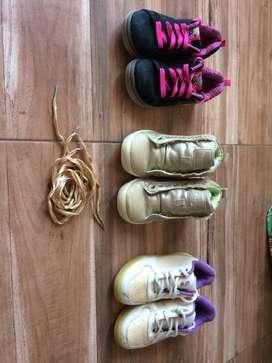 Zapatillas niña combo por 3 pares